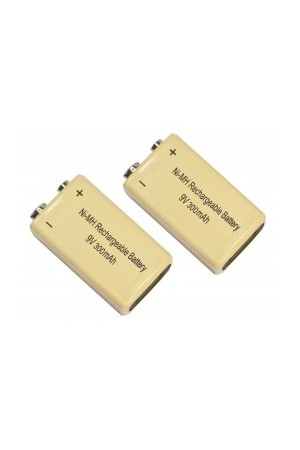 2 x Rechargeable 9V Batteries 300mAh