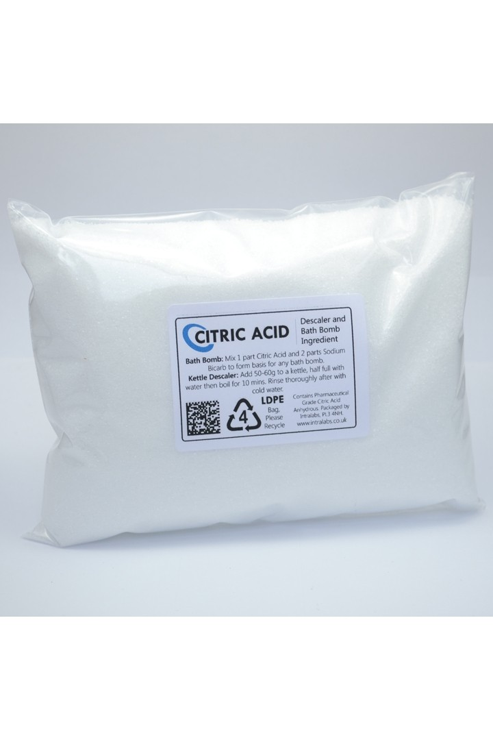 Citric Acid - 100% Pure BP Grade (500g)