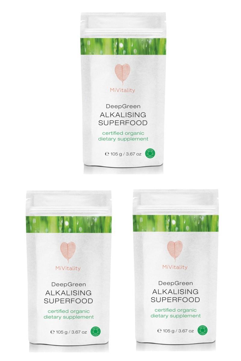 Deep Green Alkalising Superfood 3 Pack