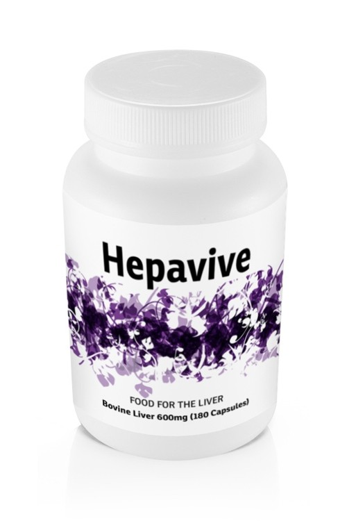 Hepavive Bovine Liver Powder 600mg (180 Caps)