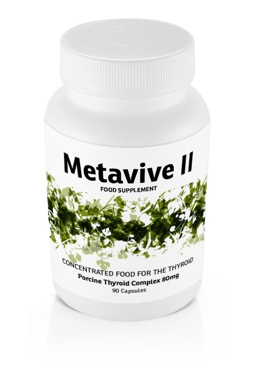 Metavive II Porcine Thyroid Complex 80mg (90 caps)