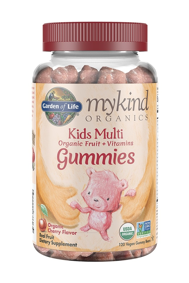 mykind Organics Kids Multi Cherry Gummy Bears (120)