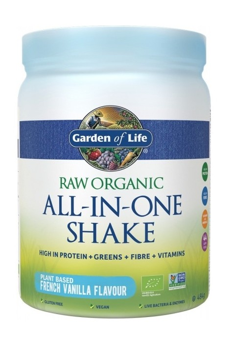 RAW Organic All in One Shake Vanilla (484g)