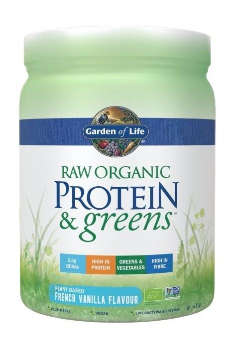 RAW Organic Protein & Greens Vanilla (411g)