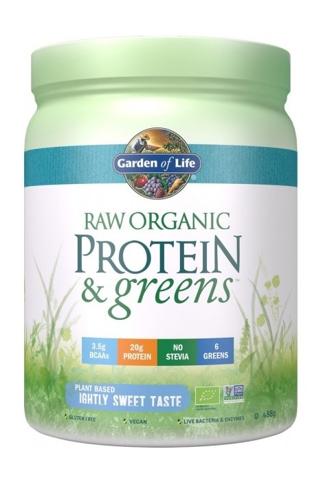 RAW Organic Protein & Greens Lightly Sweet (488g)