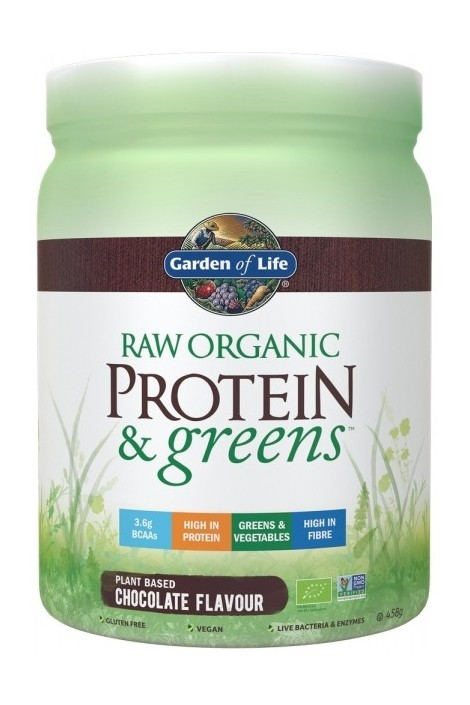 RAW Organic Protein & Greens Chocolate (458g)