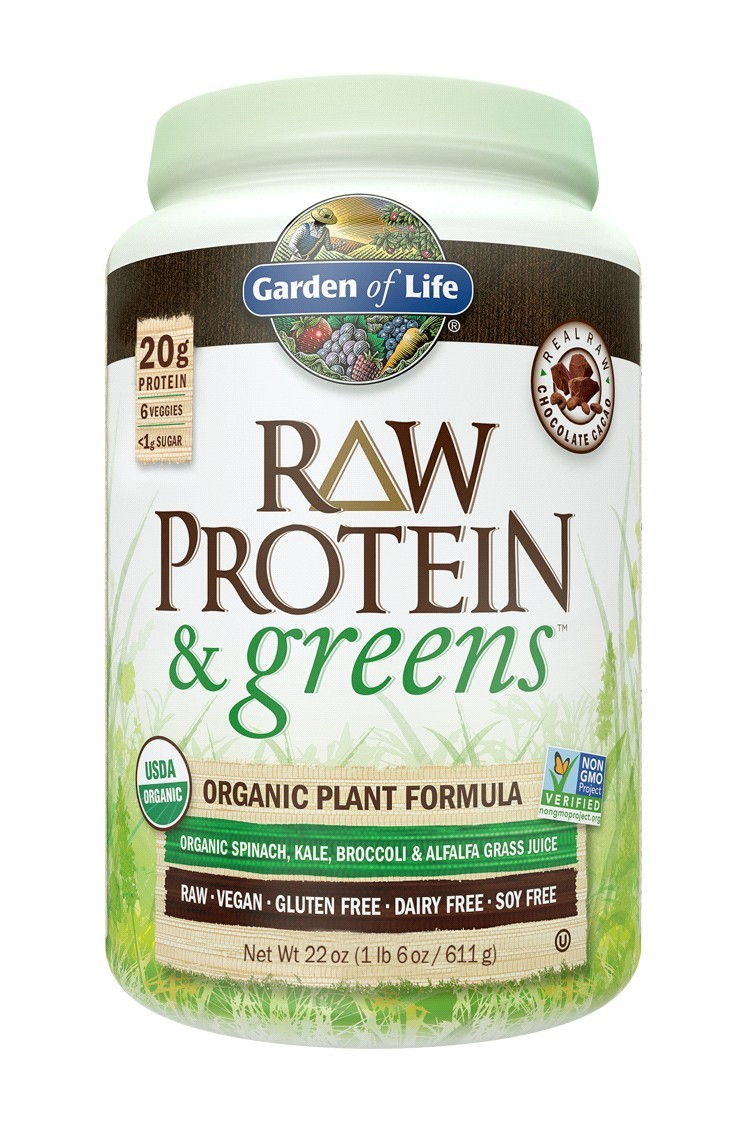 RAW Protein & Greens, Chocolate (611g)