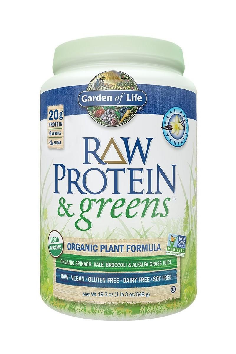 RAW Protein & Greens, Vanilla (548g)
