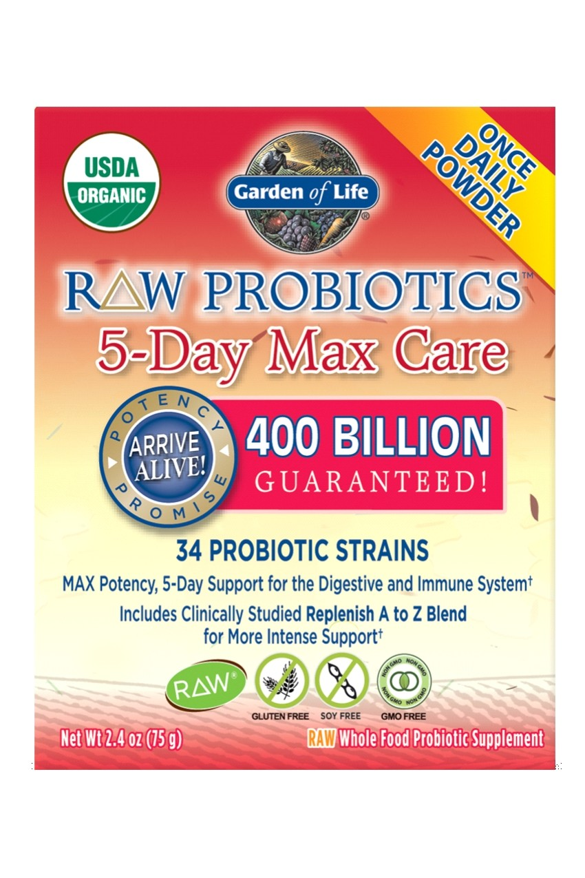 RAW Probiotics™ 5 Day Max Care (75g)