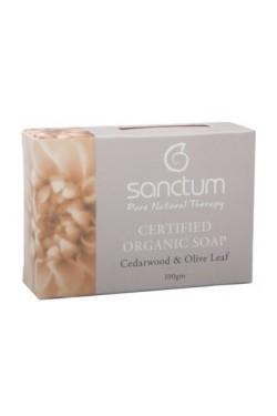 Sanctum Cedar Wood & Olive Leaf Soap (100g)