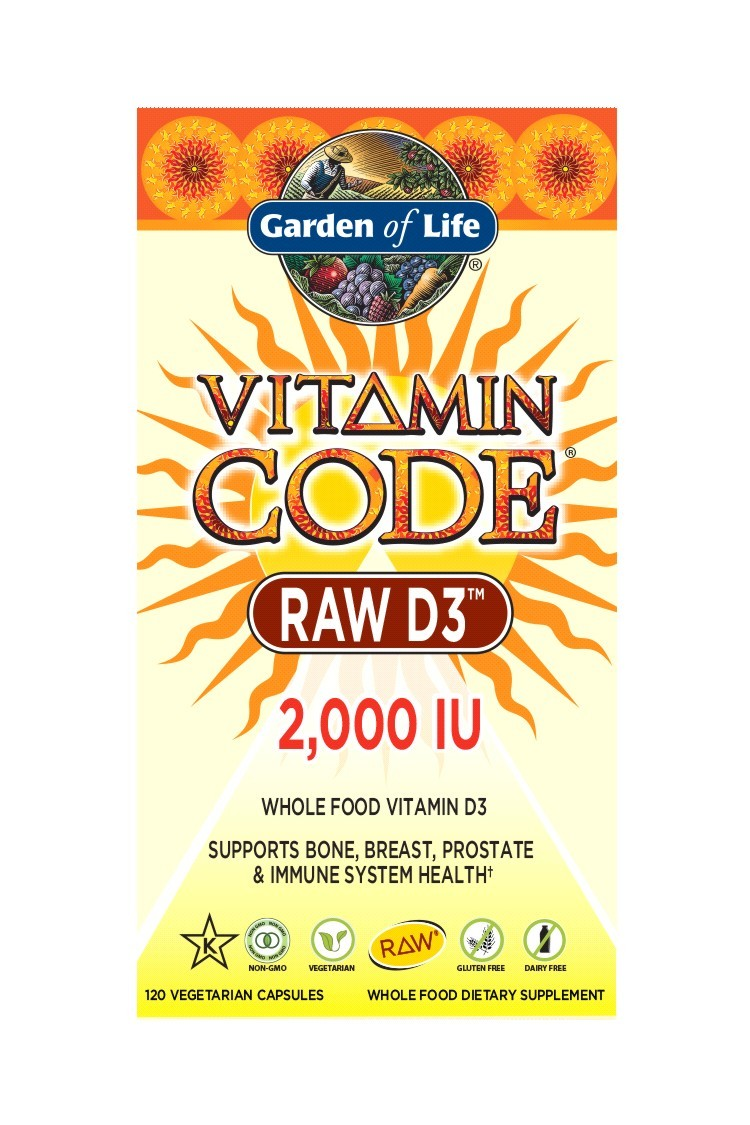 Vitamin Code® RAW D3 2000 IU (120 Caps)