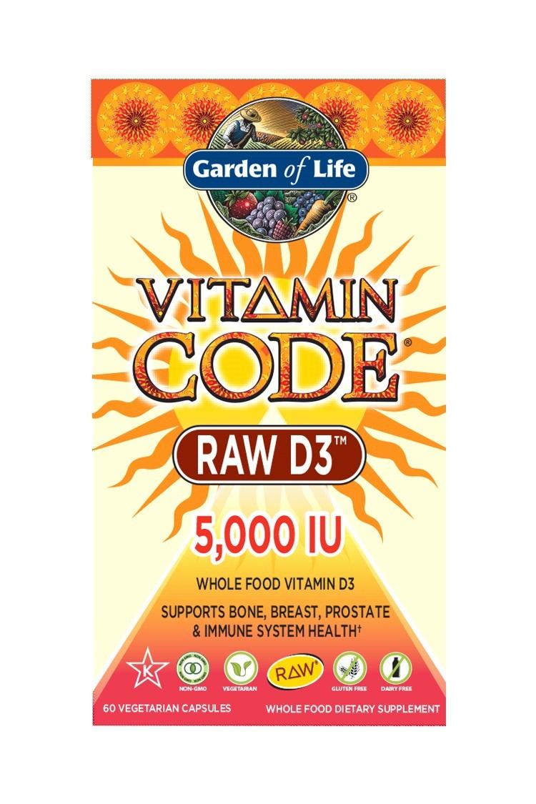 Vitamin Code® RAW D3 5000 IU (60 Caps)