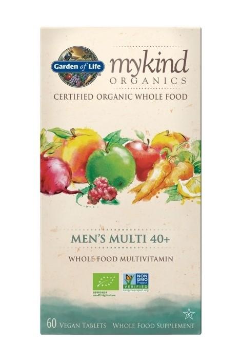 mykind Organics Mens Multi 40+ (60 Tabs)