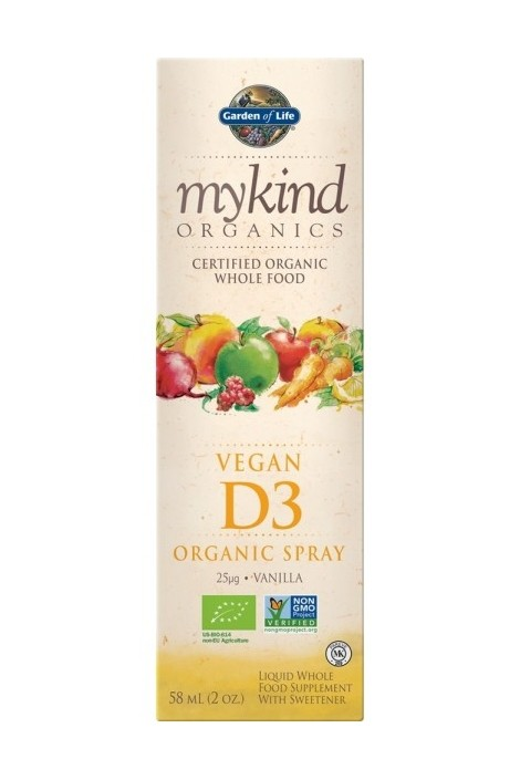 mykind Organics Vegan D3 1000 IU Spray (60ml)