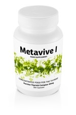 Metavive I Porcine Thyroid Complex 40mg (180 caps)