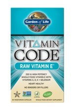 Vitamin Code® RAW Vitamin E (60 Caps)